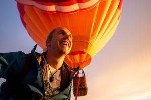 joy after walking balloon highline