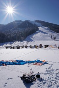 Parachute in the snow