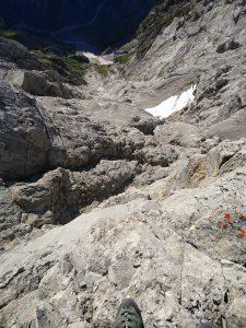 Wingsuit BASE jump Watzmann Mittelspitze