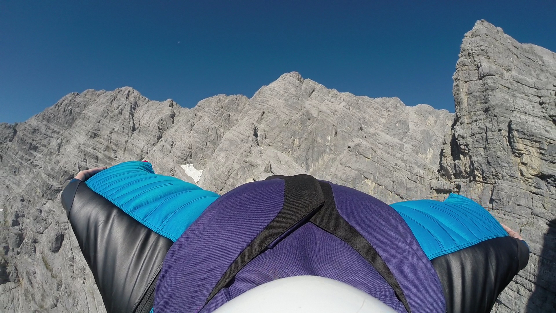 Flying down the Watzmann east face
