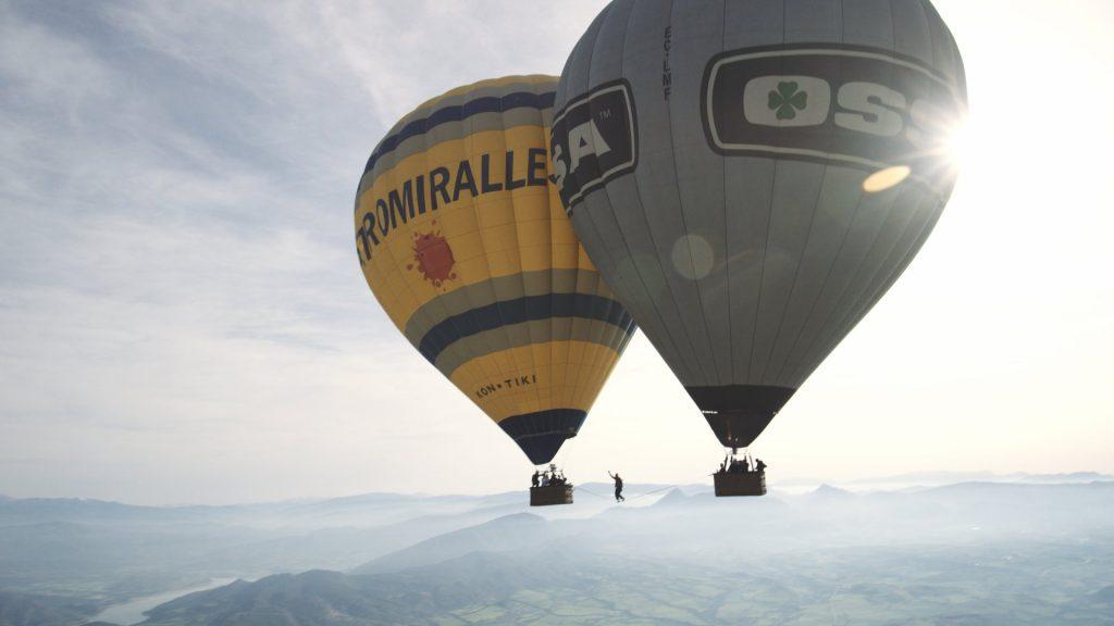 Balloon Highline in Spain